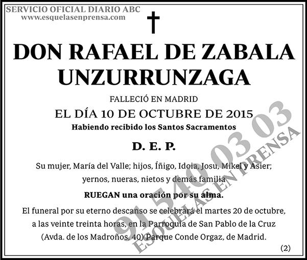 Rafael de Zabala Unzurrunzaga